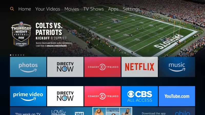 Animated Search PBS App on Fire TV