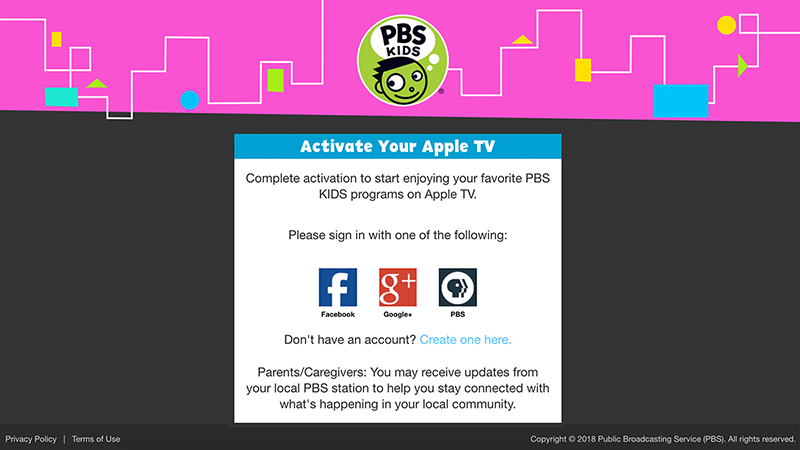 Complete Activate PBS KIDS