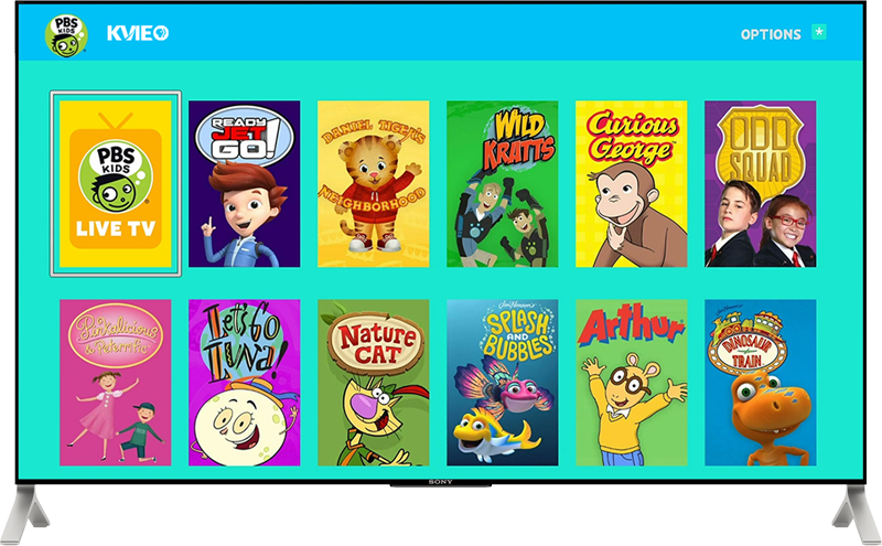 PBS KIDS app on TV with Roku