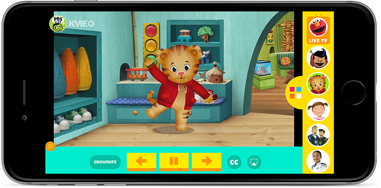 Open PBS Kids App on iPhone 7 Plus