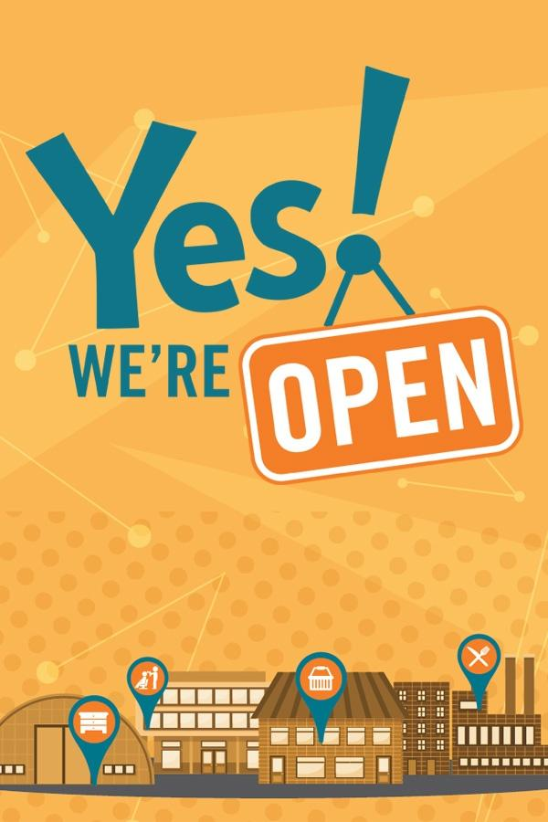 Yes! We're Open Poster